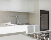 Backsplash - Strata Argentum | Countertop - Arctic White