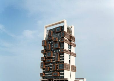 Private Residence Cube Tower Neolith